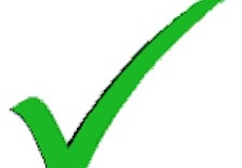 Evaluation - Green tick